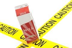 Aviso dietético ou aviso da alergia da intolerância à lactose imagem de stock royalty free