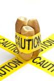 Aviso dietético ou aviso da alergia do glúten/trigo imagem de stock