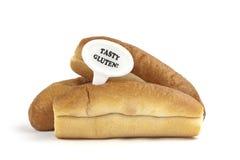 Aviso dietético ou aviso da alergia do glúten/trigo imagem de stock royalty free