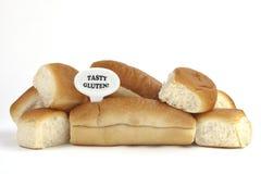 Aviso dietético ou aviso da alergia do glúten/trigo fotos de stock royalty free
