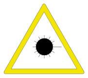 Aviso do laser Foto de Stock