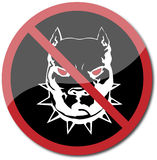 Aviso do pitbull ilustração royalty free