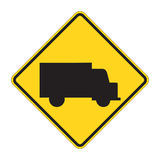 Aviso do sinal de estrada - caminhão ilustração stock
