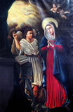 Aviso do Virgin Mary imagem de stock