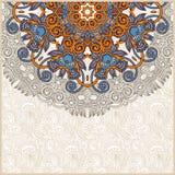 Aviso floral de la tarjeta del círculo adornado Fotos de archivo libres de regalías