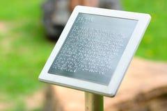 Aviso llano de Braille Imágenes de archivo libres de regalías