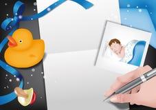 Aviso-muchacho del nacimiento Imágenes de archivo libres de regalías