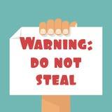aviso: NÃO ROUBE ilustração royalty free