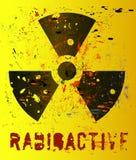 Aviso nuclear ilustração royalty free