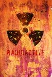Aviso nuclear ilustração do vetor