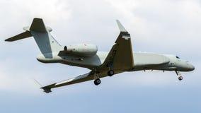 Aviso prévio e contr transportados por via aérea militares de Gulfstream G550 AEW/C Foto de Stock Royalty Free