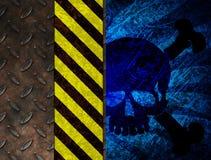 Aviso químico do veneno ilustração stock