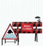 Aviso severo da inundação ilustração royalty free
