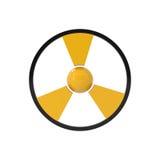 Aviso: sinal nuclear do perigo Imagem de Stock Royalty Free