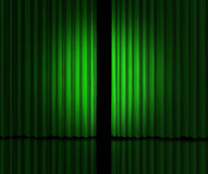 Aviso verde grande Imagenes de archivo