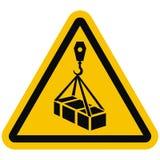 Aviso W015, carga a?rea, ?cone do ISO 7010 do vetor ilustração stock