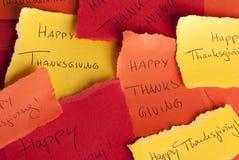 Avisos felices de la acción de gracias Imagenes de archivo