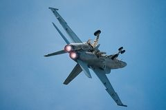 Avispón estupendo de F/A-18E/F fotografía de archivo libre de regalías