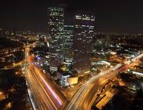 aviv中心摩天大楼tel 免版税库存图片