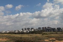 aviv北部地平线tel 库存照片