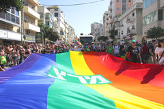 aviv同性恋游行自豪感tel 免版税库存图片