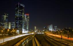 aviv晚上地平线tel 免版税库存图片