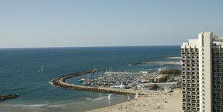 aviv格式horisontal海滨tel 库存照片