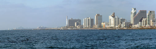 aviv海岸tel 免版税库存图片