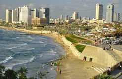 aviv海滨tel 免版税库存图片