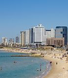 aviv海滩tel 图库摄影