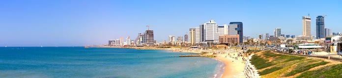 aviv海滩tel 免版税库存照片