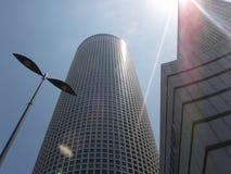aviv πύργοι azrieli τηλ. στοκ εικόνες