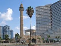 aviv以色列tel 清真寺哈桑敲打在特拉维夫和大卫洲际的旅馆里 库存照片