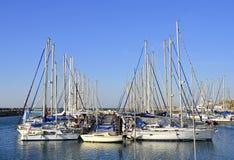 aviv anslutade yachter för israel marinatelefon Royaltyfria Bilder