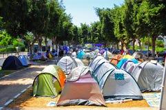 aviv demonstraci tel namiot obrazy stock