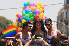aviv glada israel ståtar stolthettelefon Royaltyfri Foto