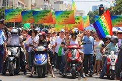 aviv glada israel ståtar stolthettelefon Arkivbilder