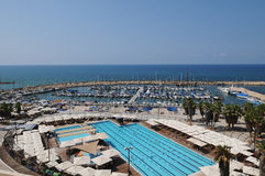 aviv Israel marina tel Obraz Royalty Free