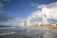 Aviv-Strand Stockfotos