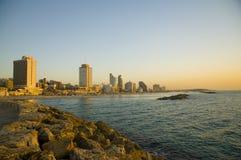 Aviv-Strand Stockbild