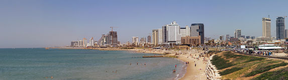 Aviv-Strand Lizenzfreie Stockbilder