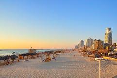 Aviv-Strand, Israel stockbild