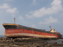Aviva Cairo Shipwreck - Taiwan 5 Royaltyfria Bilder
