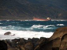 Aviva Caro Shipwreck - Taiwan Royaltyfri Foto