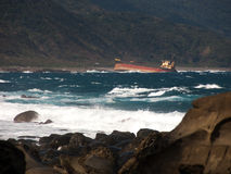 Aviva Caro Shipwreck - Tajwan Zdjęcie Royalty Free