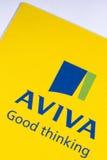 Aviva firmy ubezpieczeniowej logo Obrazy Stock