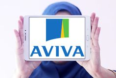 Aviva insurance company logo Stock Photos
