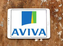 Aviva insurance company logo Stock Photo