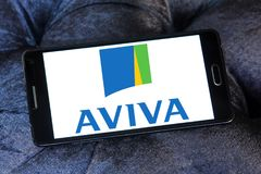 Aviva insurance company logo Stock Images