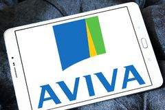 Aviva insurance company logo Royalty Free Stock Photo